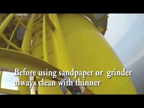 How to do Offshore Wind Turbine paint repair by Skyporff Rope Access