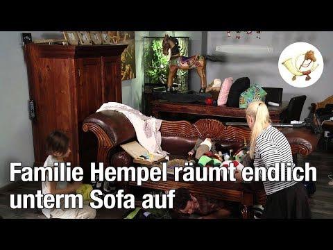 Familie Hempel räumt endlich unterm Sofa auf [Postillon24]