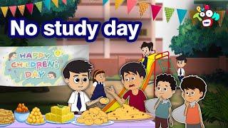 No Study Day   Happy Children's Day   English Animated Stories   English Cartoon   Kids Stories