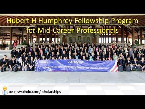Hubert H Humphrey Fellowship Program for Mid Career Professionals AMINEF USA [150415]
