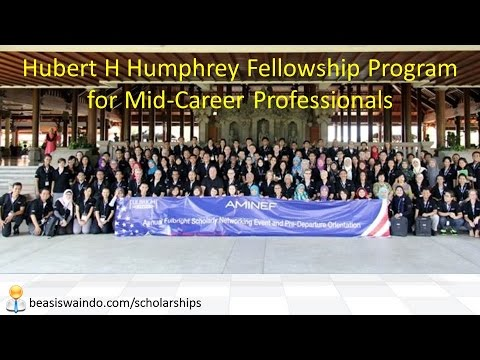 Hubert H Humphrey Fellowship Program for Mid Career Professionals AMINEF USA [150415]