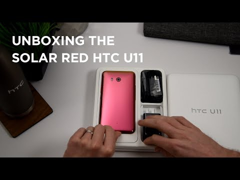 Unboxing the Solar Red HTC U11 with Aaron Baker