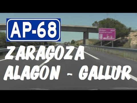 AP-68 Zaragoza , Autopista del Ebro , Zona Alagón - Gallur / West of Zaragoza - Highways in Spain