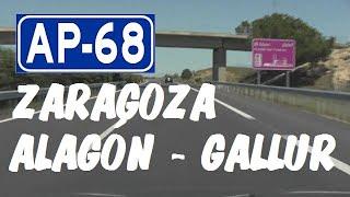 AP-68 Autopista del Ebro , Zona Alagón - Gallur , Zaragoza / Highways in Spain