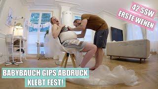 Babybauch Gips Abdruck 👶🏼 Es geht schief! | Leichte Wehen in 42 SSW | Isabeau