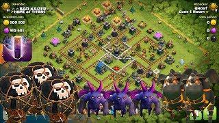 Clash of Clans TH12 v TH12 Lavahound, Balloon, Minion, Bat Spell. 3 Star Attack Village Raids TITANS