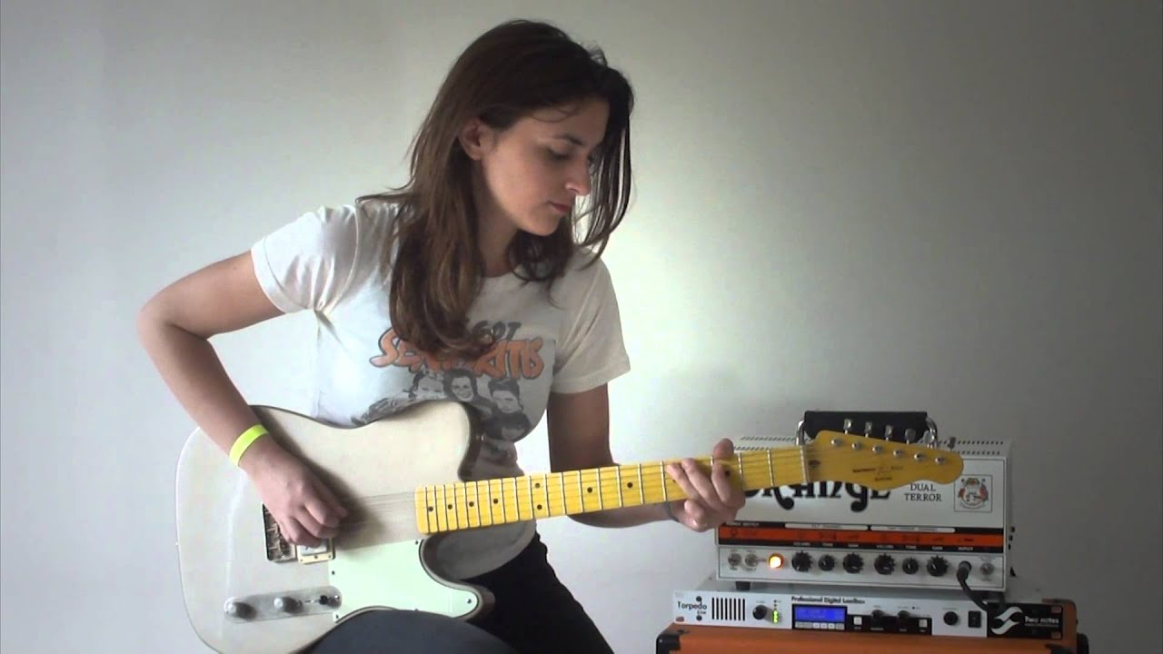 Girl And Guitar Wallpaper Playing My New Telecaster By Southern Belle Guitars Youtube