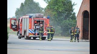 Brand in tarwedroger aan de Johannes Kerkhovenpolder in Woldendorp