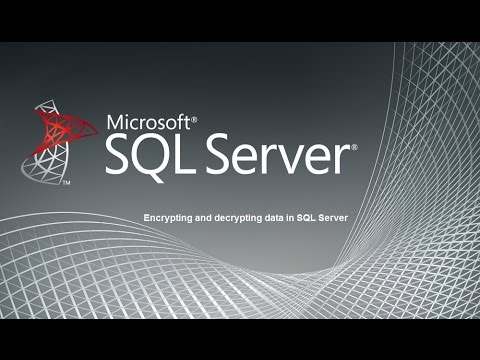 Encrypting and decrypting data in SQL Server