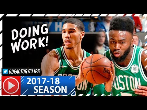 Jaylen Brown 22 Pts & Jayson Tatum 15 Pts Full Highlights vs Mavericks (2017.11.20) - DOING WORK!
