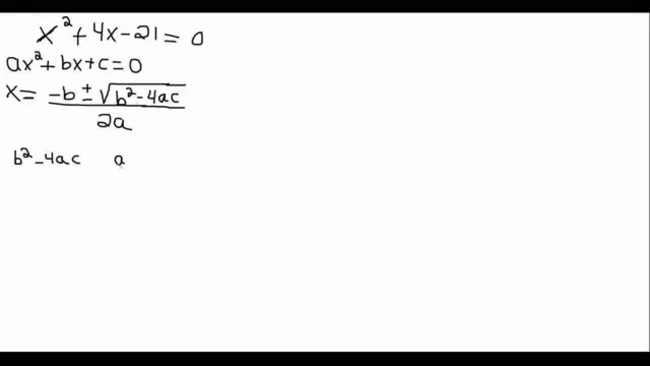 Exercice équation second degré - Formule quadratique ...