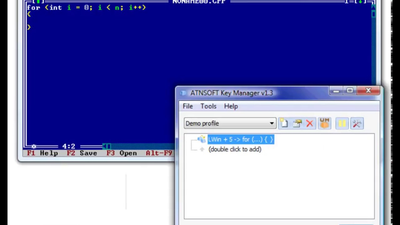 ATNSOFT Key Manager – Key, mouse button and key combination remapper