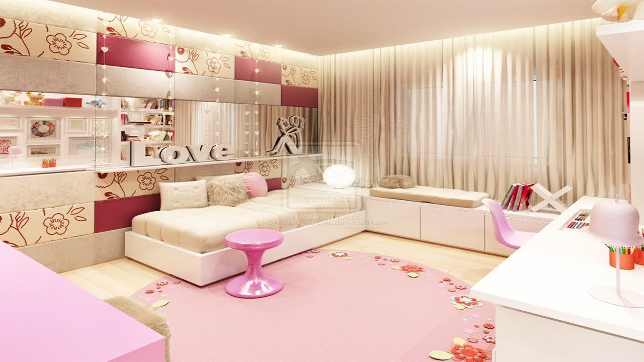 Cute bedroom ideas for teenage girls youtube for Cute bedroom designs for small rooms