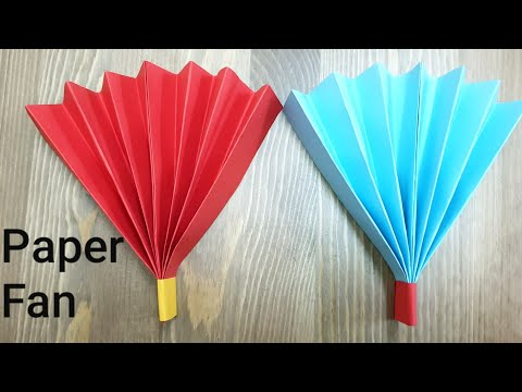 How to make paper fan,easy DIY origami crafts
