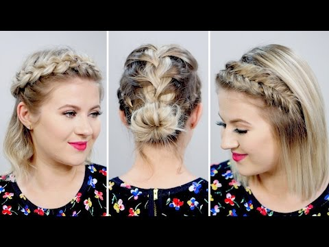 3 Gorgeous Spring Braided Short Hairstyles | Milabu