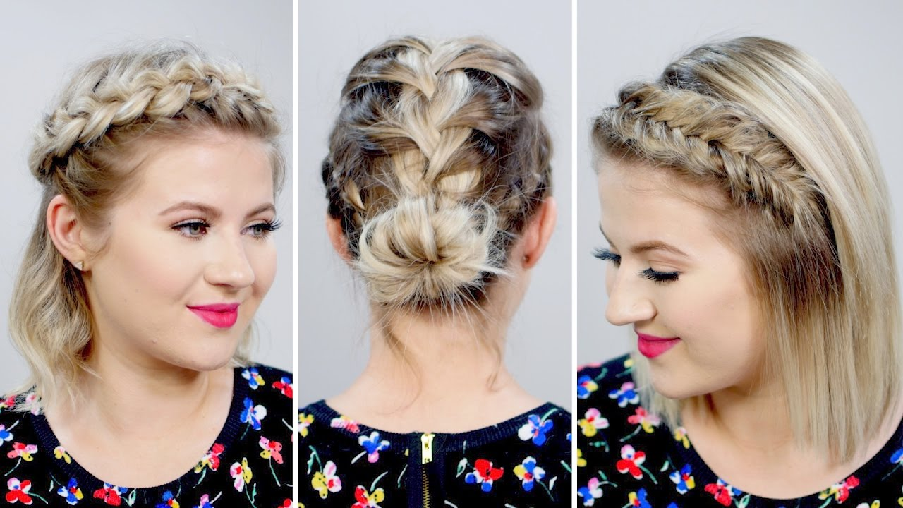 4 Braids Hairstyles 2017: 3 Gorgeous Spring Braided Short Hairstyles