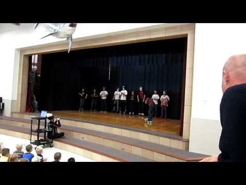 Classic Sk8 Crew Members Perform at Sandy Elementary.MOV