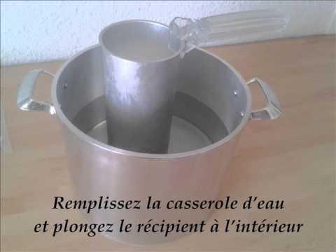 Fabriquer Chandelle comment faire une bougie moulée - youtube