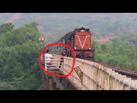 Thumbnail: Clicking Photos with Running Train... BAD IDEA : Karmali AC Superfast Express : KONKAN RAILWAY