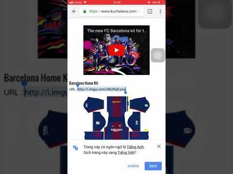 Hướng dẫn đổi áo quần, logo trong Dream League Soccer