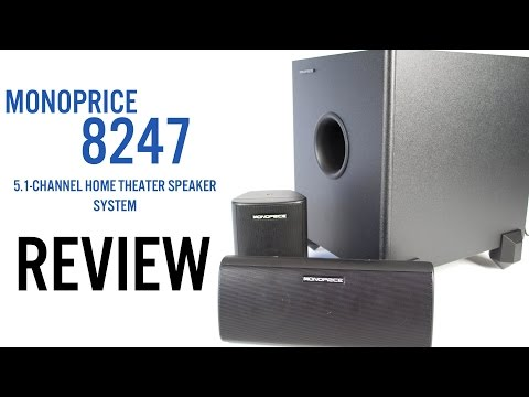 Monoprice 8247 5.1-Channel Home Theater Speakers Review