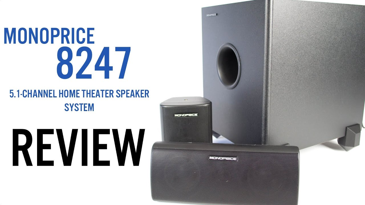 Monoprice 8247 51 Channel Home Theater Speakers Review Youtube