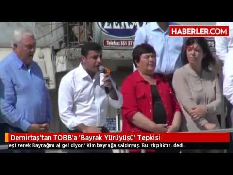 Demirtaş'tan TOBB'a 'Bayrak...