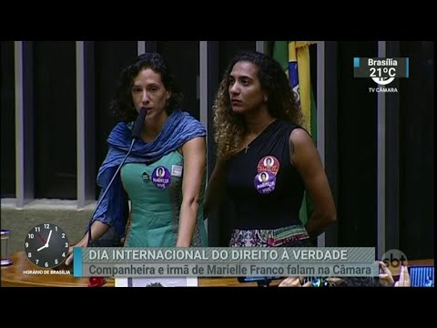 Irmã e companheira de Marielle participam de sessão na Câmara   SBT Brasil (22/03/18)