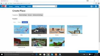 How To Make A Game On Roblox 2016!