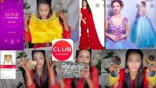 Club Factory Super Diwali Sale Haul | Wedding Gown,Bags,Jewelry, Shoes,Sandals at Unbeaten Price😲🔥