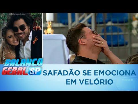 Wesley Safadão se emociona em velório de Gabriel Diniz