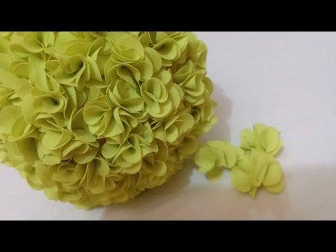 DIY Trang trí phòng ngủ - Cách làm quả cầu hoa bằng vải voan