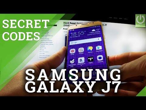 Secret Codes in SAMSUNG Galaxy J7 (2016) - SAMSUNG Hidden Menu