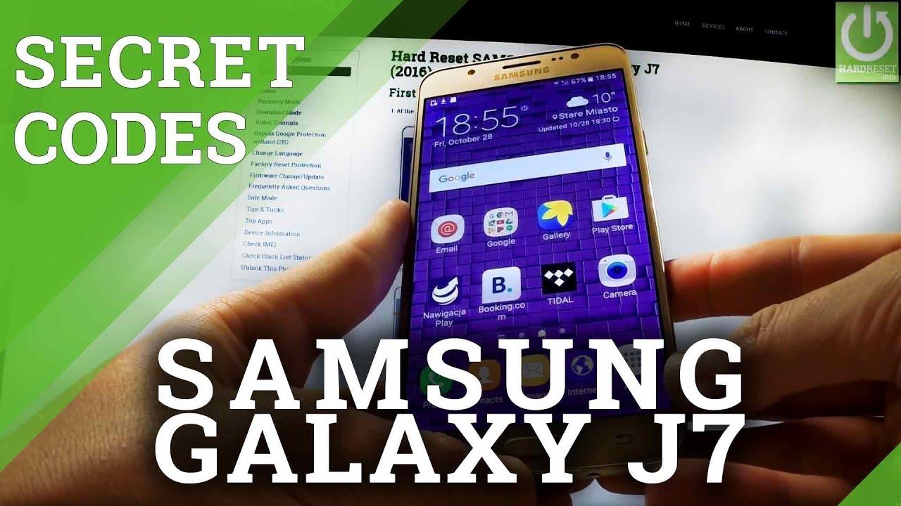 Codes SAMSUNG J700F Galaxy J7 - HardReset info