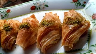 Shobiyet Baklava (Cream Filled Baklava) Recipe From Scratch!