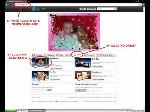 Como fazer slide de fotos no perfil do orkut 55