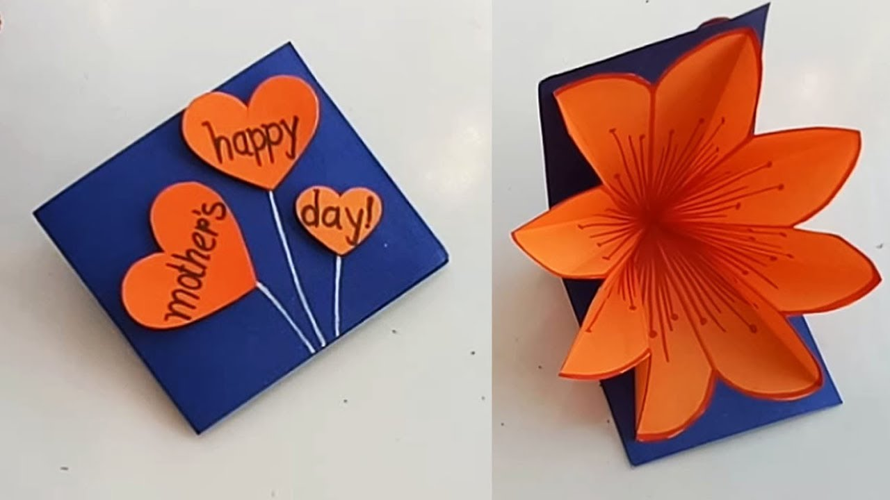 Handmade Mother S Day Card Mother S Day Pop Up Card Making Idea
