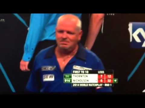 "Paul Nicholson tells booing dart fans to ""Fuck You"""