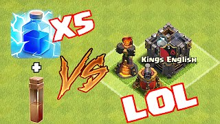 LIVE STREAM!! Clash Of Clans - MAX LVL 7 LIGHTNING VS INFERNO TOWER+CC+ AiR SWEEPER