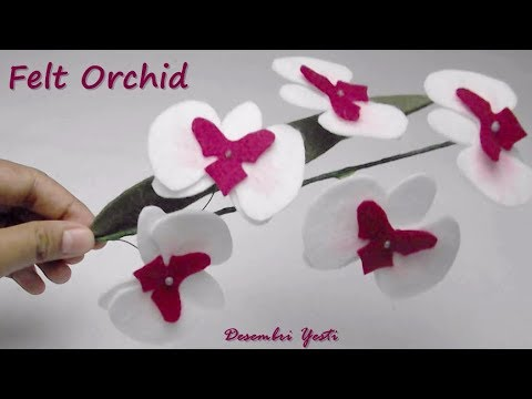Diy Felt Orchid Bunga Anggrek Flanel Youtube
