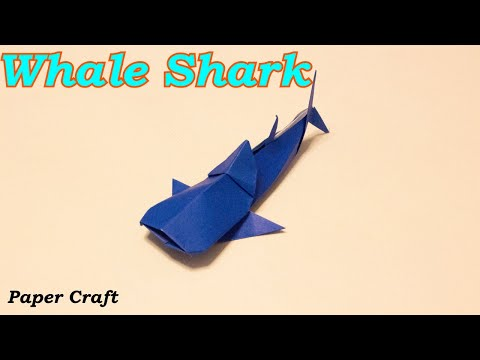 Paper Craft Origami - How To Make A Whale Shark ~DIY Tutorial~