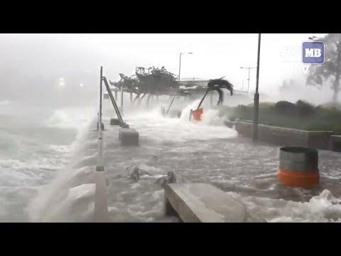 Hong Kong hit by Severe Typhoon Hato
