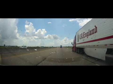 Driving on Interstate 10 Across Entire State of Texas (timelapse)