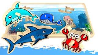 Puzzle dla dzieci ze zwierzętami wodnymi | CzyWieszJak