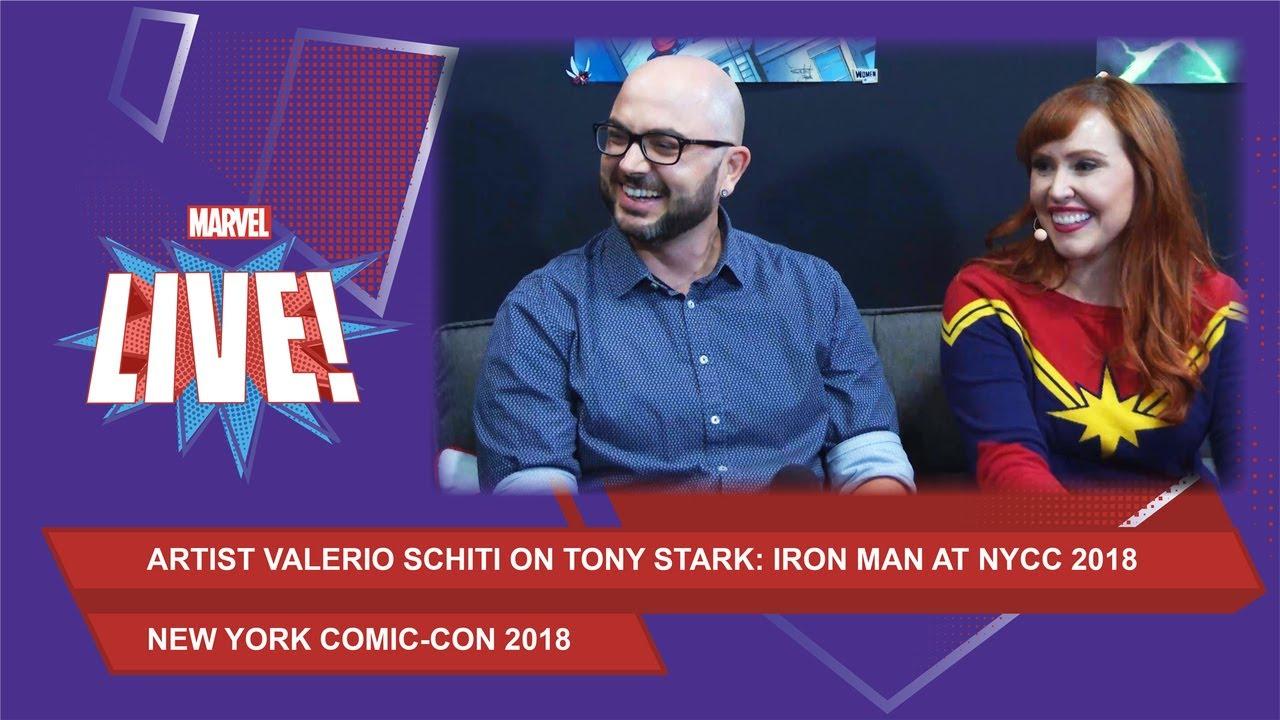 Marvel artistValerio Schiti on Tony Stark: Iron Man at NYCC 2018