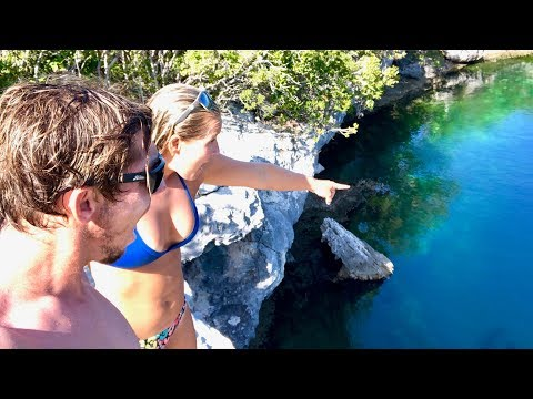 WE FOUND A HUGE BLUE HOLE in the Bahamas!