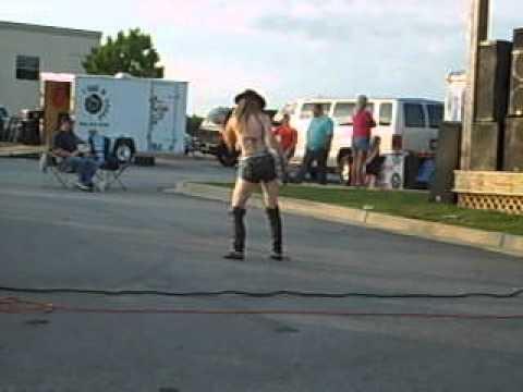 dancing girl at harley davidson of greenville 05-16-12 - youtube