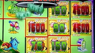 BIG WIN!!! INVADERS ATTACK FROM PLANET MOOLAH!!! 1c SG WMS Slot