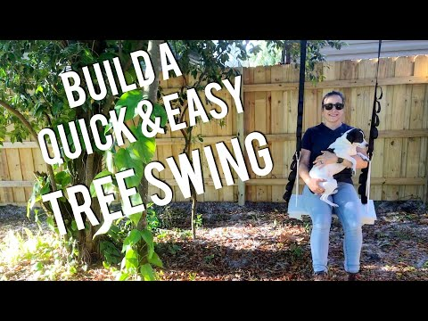 DIY Tree Swing - quick and easy project with scrap wood