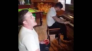 Lads Have A Singalong In The Pub